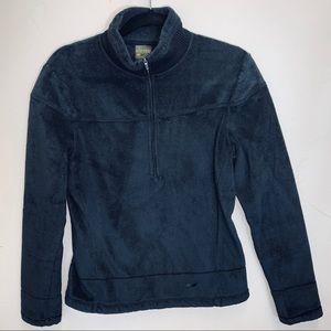 Koppen zip front pullover fuzzy cozy mock neck M